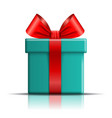 gift box icon surprise present template red vector image