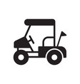 golf field cart icon in outline design vector image vector image