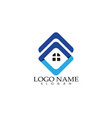 home buildings logo and symbols icons template vector image