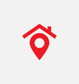 house pin map icon vector image