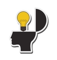 human head and lightbulb idea icon vector image