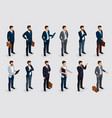 isometric set businessmen in suits vector image vector image