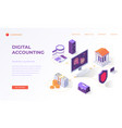 landing page for digital accounting vector image