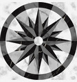 luxury marble mosaic compass sign seamless pattern vector image