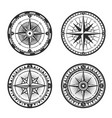 nautical compass wind rose vintage icons vector image vector image