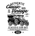 old classic vintage car club vector image