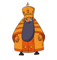 orthodox priest cartoon vector image