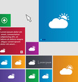 Partly Cloudy icon sign buttons Modern interface vector image vector image