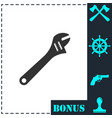 pipe wrench icon flat vector image vector image