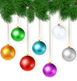 realistic with set of bright colorful christmas vector image vector image