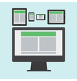 responsive web design in flat style vector image vector image