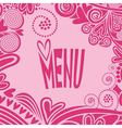 Romantic valentines day menu vector image