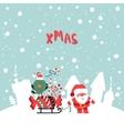 Santas Claus XMas vector image vector image