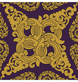 Seamless pattern baroque vector image