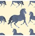 Seamless texture black horse exterior vector image vector image