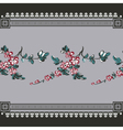 seamless vintage with seamless floral vector image