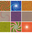 SET Abstract twirl background vector image