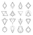 set minimalistic geometric elements vector image