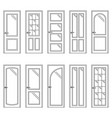 set of contours of doors vector image vector image