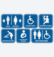 set of restroom nursing room lactation room vector image