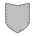 shield in monochrome dotted contour and striped vector image vector image