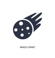space comet icon on white background simple vector image vector image