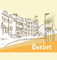 st jean street in quebec vector image vector image