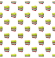 Stack of colored towels pattern cartoon style vector image