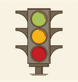 traffic light single flat icon vector image vector image