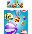 two seamless texture with balls vector image vector image