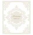 Vintage Classic Wedding Invitation card vector image vector image