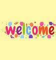 welcome sign banner vector image vector image