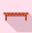 wood river bridge icon flat style vector image vector image