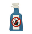 spray bottle with antipest sign isolated on white vector image