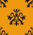 Seamless ornate pattern vector image