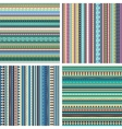 Set of colorful ethnic seamless patterns vector image