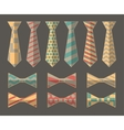 Set of Ties and Bow Ties vector image