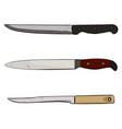 color sketch of kitchen knives vector image