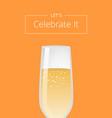 lets celebrate it advertisement poster champagne vector image