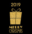 2019 happy new year and merry christmas background vector image vector image