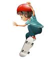 A young gentleman skateboarding vector image vector image