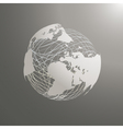 abstract world map sphere Europe vector image vector image