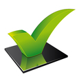 acceptance icon vector image vector image