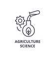agriculture science line icon outline sign vector image vector image