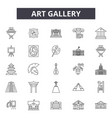 art gallery line icons signs set outline