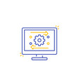 automation and optimization software line icon