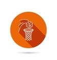 Basketball icon Basket with ball sign