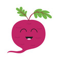 beet with leaves icon red beetroot vegetable vector image vector image