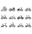 Bicycle silhouettes set vector | Price: 1 Credit (USD $1)