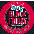 Black friday sale banner on color patterned backgr vector image vector image